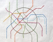 Embroidered Moscow Metro Map
