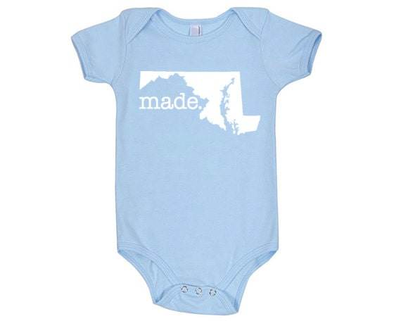 Maryland Made Cotton One Piece Bodysuit Infant