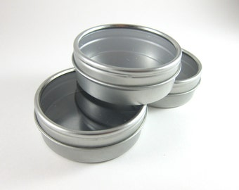 Round Tin Cans with Window Lid   3 Steel Favor Tin Boxes for Wedding Favors, Party Favors, Candy, Jewelry