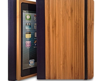 New : Bamboo iPad mini 4 Bookcase, Bamboo Wood iPad Mini 4 Case, Wood iPad Mini Retina Bookcase - Primovisto