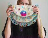 UTHA crazy mouth bag, boho fringe bag, Festival bag, Fringe Bag