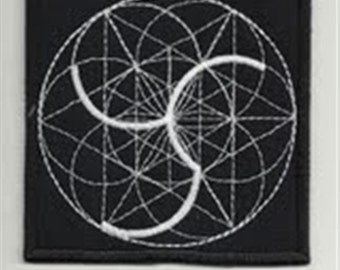 Sacred geometry 9 - embroidered patch, BUY3 GET4, 3,2 X 3,2 INCH