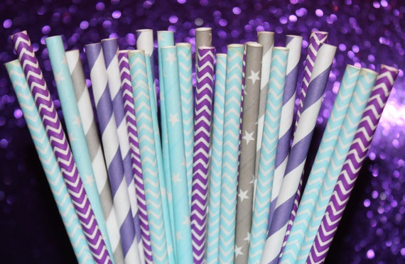 25 Paper Straw, Disney FROZEN Party, Elsa The Snow Queen ,Frozen Princess Party, Winter, Ice Skating, Frozen Birthday Party,
