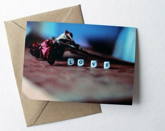 Love Letters Card - Blank Inside - Romantic Photo Greeting Card