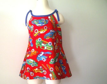 Girls Dress - Sun dress Size M - Cars
