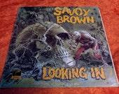 SALE Vintage Savoy Brown Vinyl Record Album Looking In Skull Zombie Rock 1971