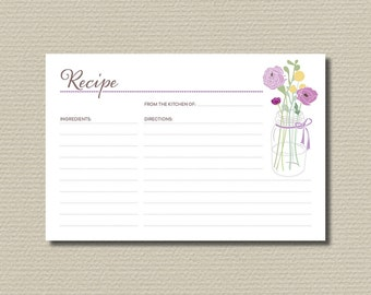 Bridal Shower Recipe Cards - PP50