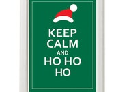 ho ho ho poster, keep calm,  8''x10'', free shipping, gift under 20,  xmas 2013