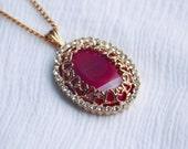 Disney's Sleeping Beauty Princess Aurora Long Pendant Necklace