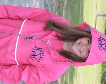 Pink rain jacket | Etsy