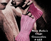 Vintage Fingerless Lace Cuff Gloves 653 PDF Digital Crochet Pattern