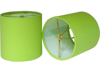 chandelier shade sconce clipon lamp shade lampshade sprout kona cotton apple green made to