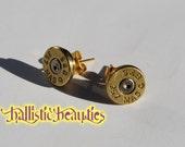 Stunning Studs .357 Magnum Bullet Shell Casing Earrings