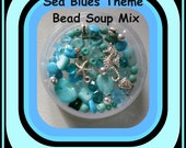 Assorted 72 Pc Sea Blues & Greens Theme Bead Soup Mix Beach Jewelry Making Supplies