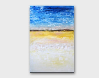 Fine art painting Sea painting Ocean painting Water painting Abstract vertical paintings Abstract art Original painting Wall art Home decor