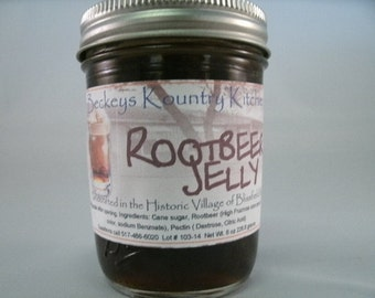 Homemade Rootbeer Jelly, Handmade fruit spread, jam & jelly. Rootbeer fruit preserves1