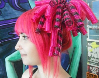 Hot Pink Black Stripe Mini Crin Cyberlox Falls