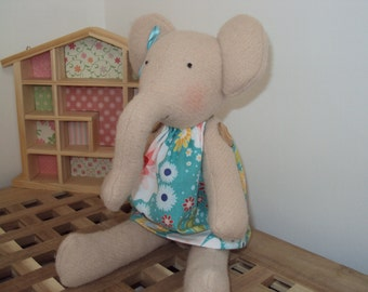 Elephant with Spring Flowers Dress. Can be personalised