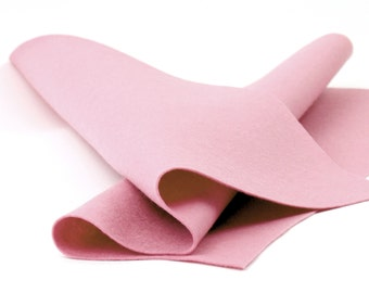 "Wool Felt Sheet - 100% Wool Felt in Color PINK CRYSTAL - 18"" X 18"" Wool Felt - Merino Wool Felt - European Wool Felt"