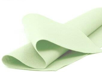 "100% Wool Felt Sheet in Color  HONEYDEW - 18"" X 18"" Wool Felt Sheet - Merino Wool Felt - European Wool Felt"