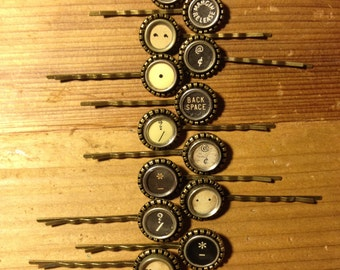 Typewriter Key Bobby Pins {Punctuation Pins}