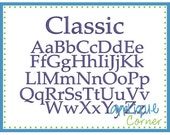 INSTANT DOWLOAD Classic Monogram Font bx, dst and pes only digital design for embroidery machine by Applique Corner