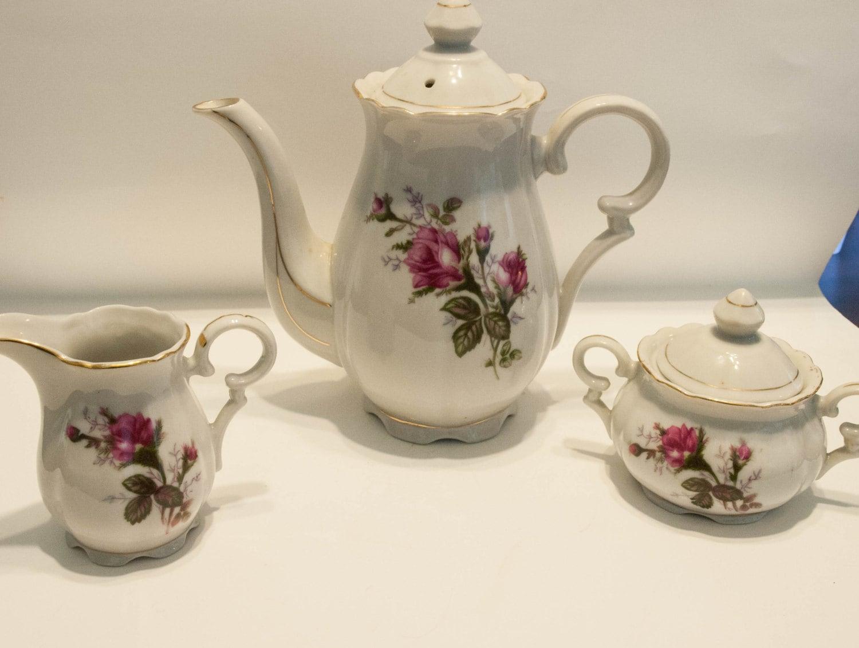 tea set vintage roses wallpaper - photo #24