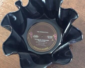 The Romantics Recycled Vinyl Record Bowl