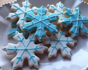 Snowflake cookies - set of 12