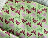 Pretty Ornate Butterfly Cotton Fabric for Pillow, Napkins, Crafts, Clothing