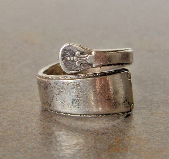 towle spoon ring sterling silver size 7 plus by gemstonecowboy