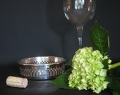 Vintage Silver Wine Coaster by Kirk and Matz