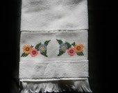 Personalized Floral Hand Towel or Kitchen Towel