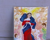 Our Lady Undoer Of Knots Holy Prayer Card Untier of Knots for Marriages