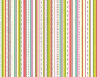 Stitch Watermelon - Maude Asbury -  Blend Fabrics. 1 Yard Cut