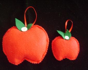 Felt Apple Ornaments or Gift Tags