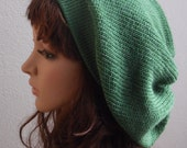 Knit Beret  Slouchy Beanie Knitted Hat Slouch Hat Tam Baggy Beanie
