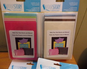 "YOUR STORY ALBUM COVERs -5x7"" - FLEXIBLe SOFt - EMBOSSABLe- - 5x7 Album Covers -Your Choice"