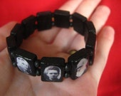 Custom Science Stretch Bracelet in Black