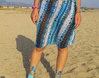 New Halter Dress With Summer Fabrics-Top,Tank,Halter,Coverups