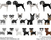 Dogs and Friends digital clip art part 10 for Personal and Commercial use - INSTANT DOWNLOAD