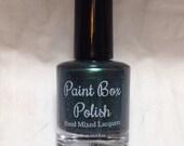 15 ml Slytherin Nail Polish - hand mixed, inspired by Harry Potter