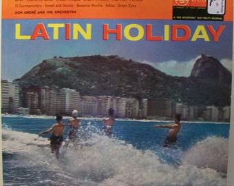 Latin Holiday Vintage Record Album Great Mad Men Era Cover Art