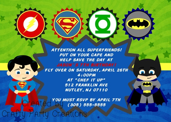 Justice league superhero birthday invitations printable quotes justice league invitation template the best resume unavailable listing on etsy stopboris Images
