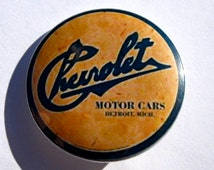 Chevrolet Pinback Button, Chevy Magnet, Corvette Car Keychain, Driving Pins, Classic Cars, Backpack Pins, Vintage Automobile Custom Gift