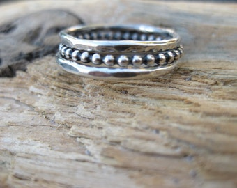 Thick Sterling Stacker rings