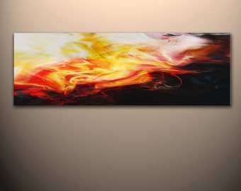 "60"" x 20"" Abstract canvas wall art giclee print  Large fully stretched and ready to hang"