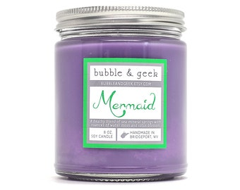 Mermaid Scented Soy Candle Jar