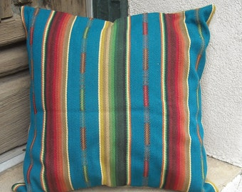 Southwestern Pillow Cover 18 x 18 to 24 x 24. Sturdy woven heavy cotton fabric.  Taos made