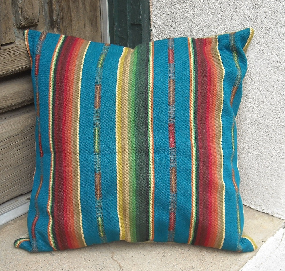 Southwestern Pillow Cover 18 x 18 to 24 x 24. Sturdy woven